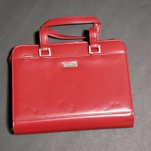 Red Leather Franklin Covey Business/Day Planner